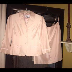 Daniele O 100% Silk Pale Pink Suit
